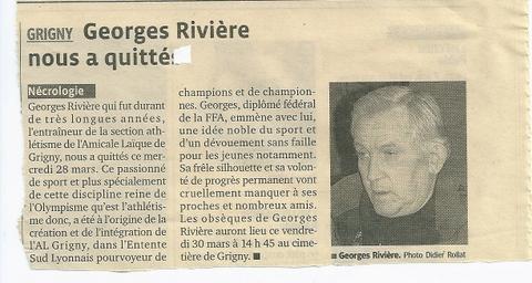 Décès de Georges Rivière