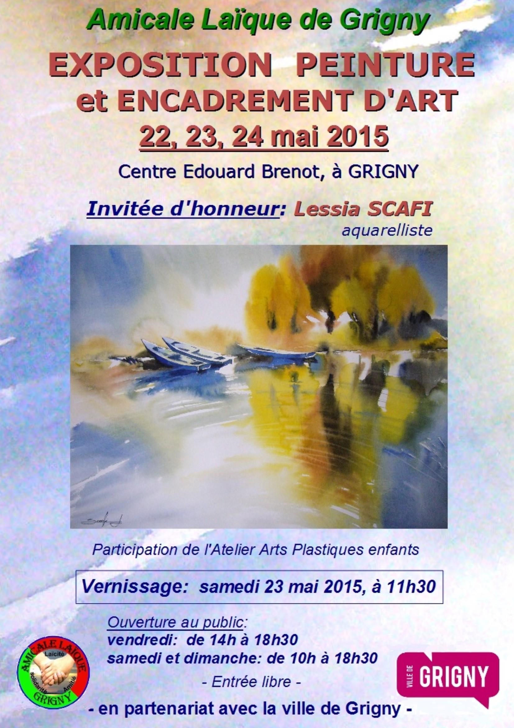 affiche expo peinture A4