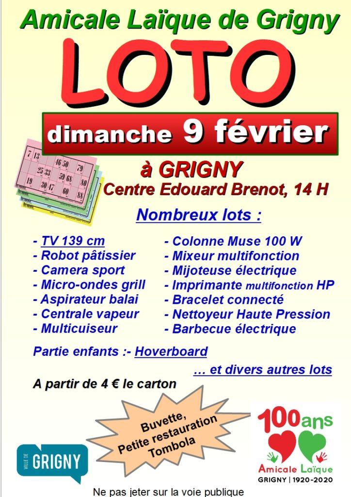 Affiche loto 9 février 2020