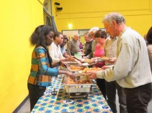 Repas préparé par l'association Komakarité