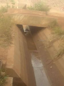 canal d'irrigation principal.